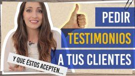Pedir testimonios a tus clientes y que estos acepten