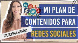 Mi plan de contenidos para redes sociales